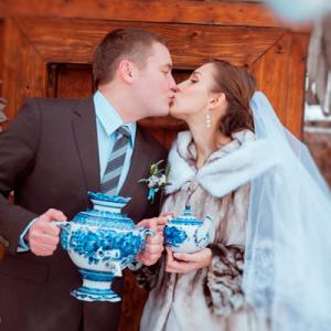 """Свадьба в стиле """"Гжель"""""""