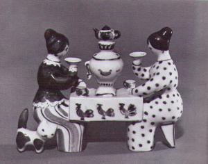Л.П. Азарова. Чаепитие, 1967