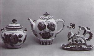 З.В. Окулова. Ваза. Чайник. Масленка. 1972