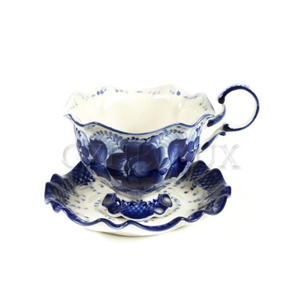 Чайная пара «Снежинка»