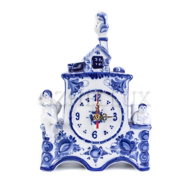 Часы «Гжельская Банька»