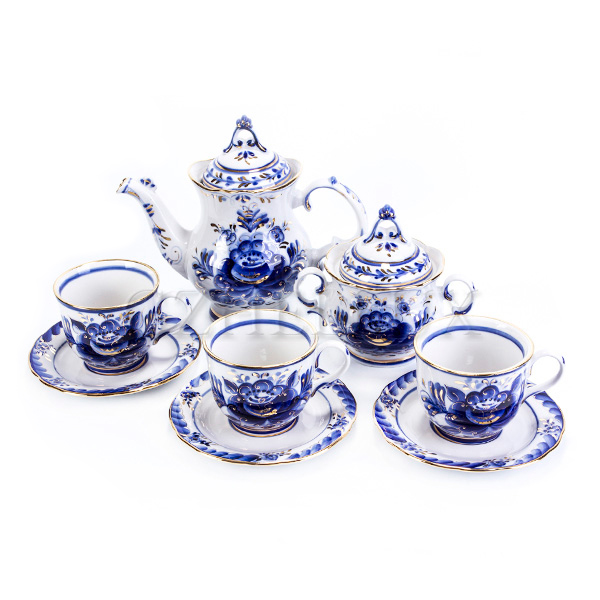 Сервиз чайный «Лебедь» в золоте