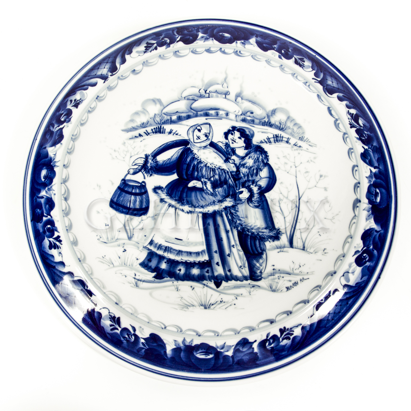Тарелка декоративная «По воду»