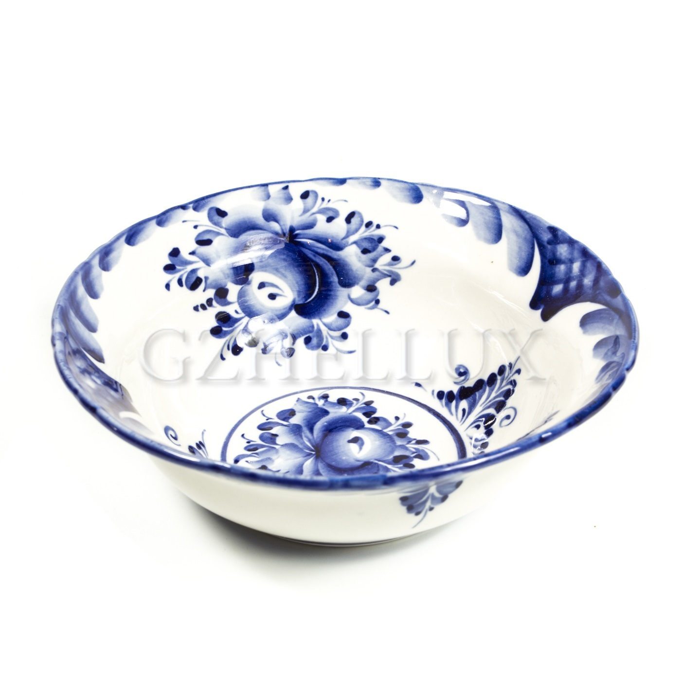 Тарелка полупорционная «Гжель»