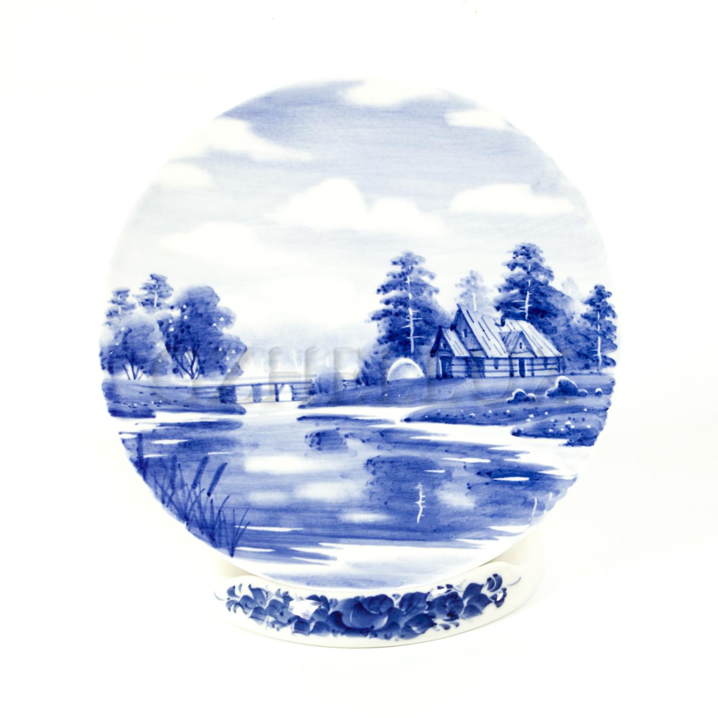 Тарелка декоративная «Русский Пейзаж» №4