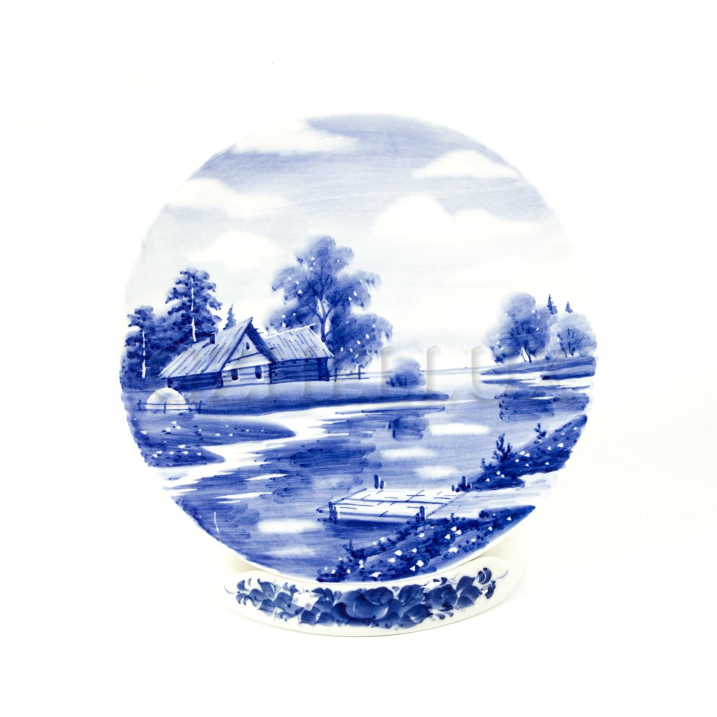Тарелка декоративная «Русский Пейзаж» №5