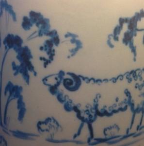 Роспись на вазе