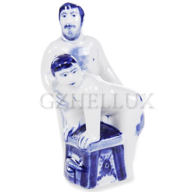 Скульптура «Гжельская Банька» №3