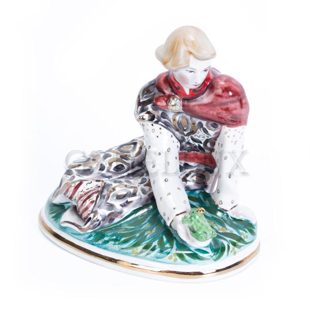 Скульптура «Иван-Царевич с Лягушкой» в красках