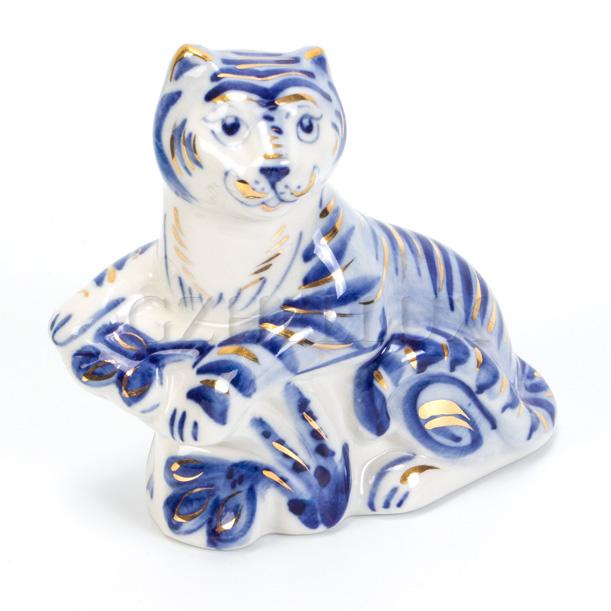 Скульптура «Тигр» в золоте