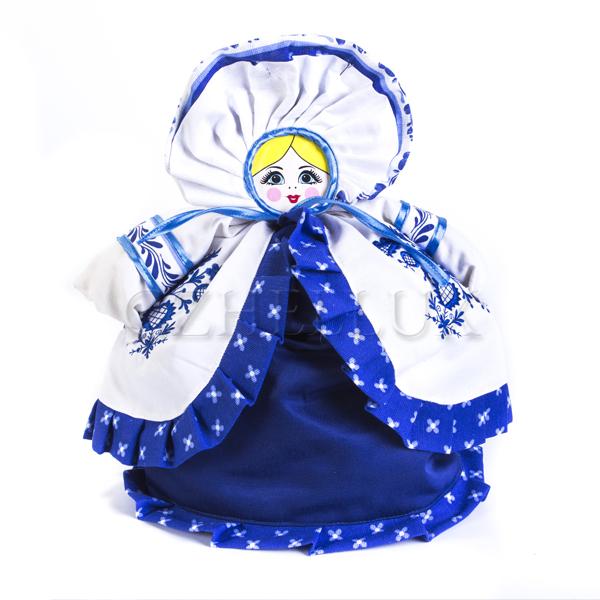 Кукла-Грелка «Дымковская игрушка с вышивкой»