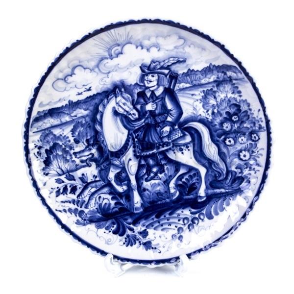 Тарелка декоративная «Охотник на Лошади»