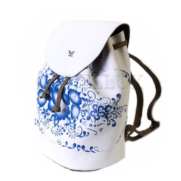 Рюкзак кожаный «Гжель»