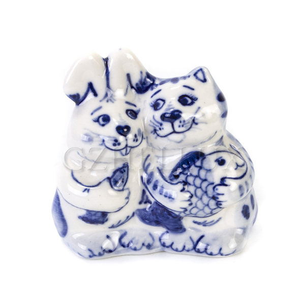 Скульптура «Кот и Заяц»