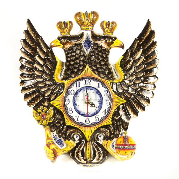 Часы настенные «Двуглавый Орел» в красках