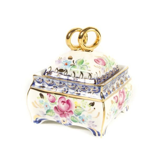 Шкатулка «Свадебная» в красках и золоте