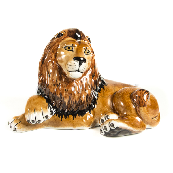 Скульптура «Лев» большой в красках