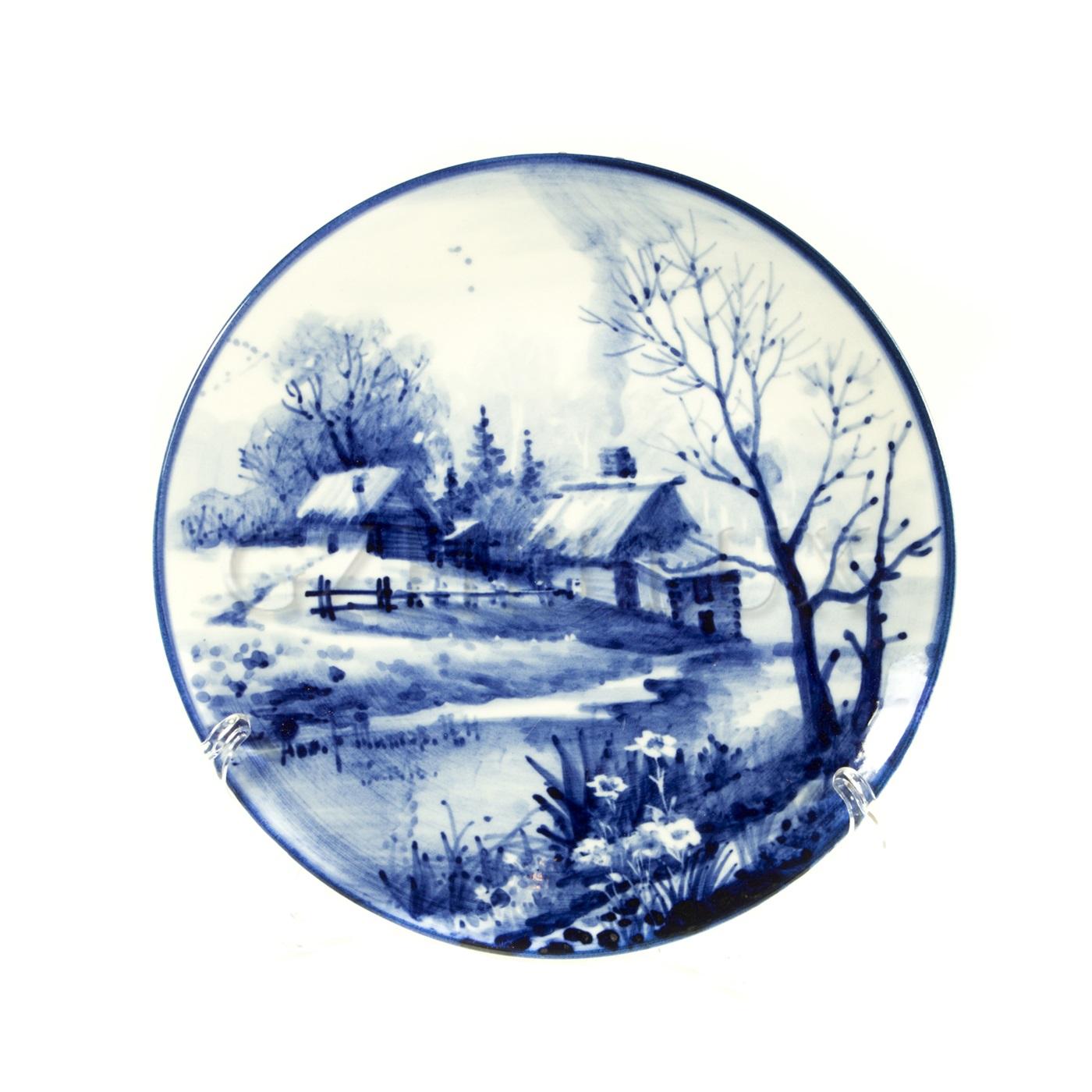 Тарелка декоративная «Русский Пейзаж» №6
