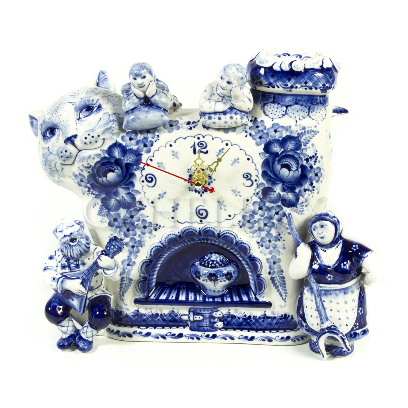 Часы «Кот Печка»
