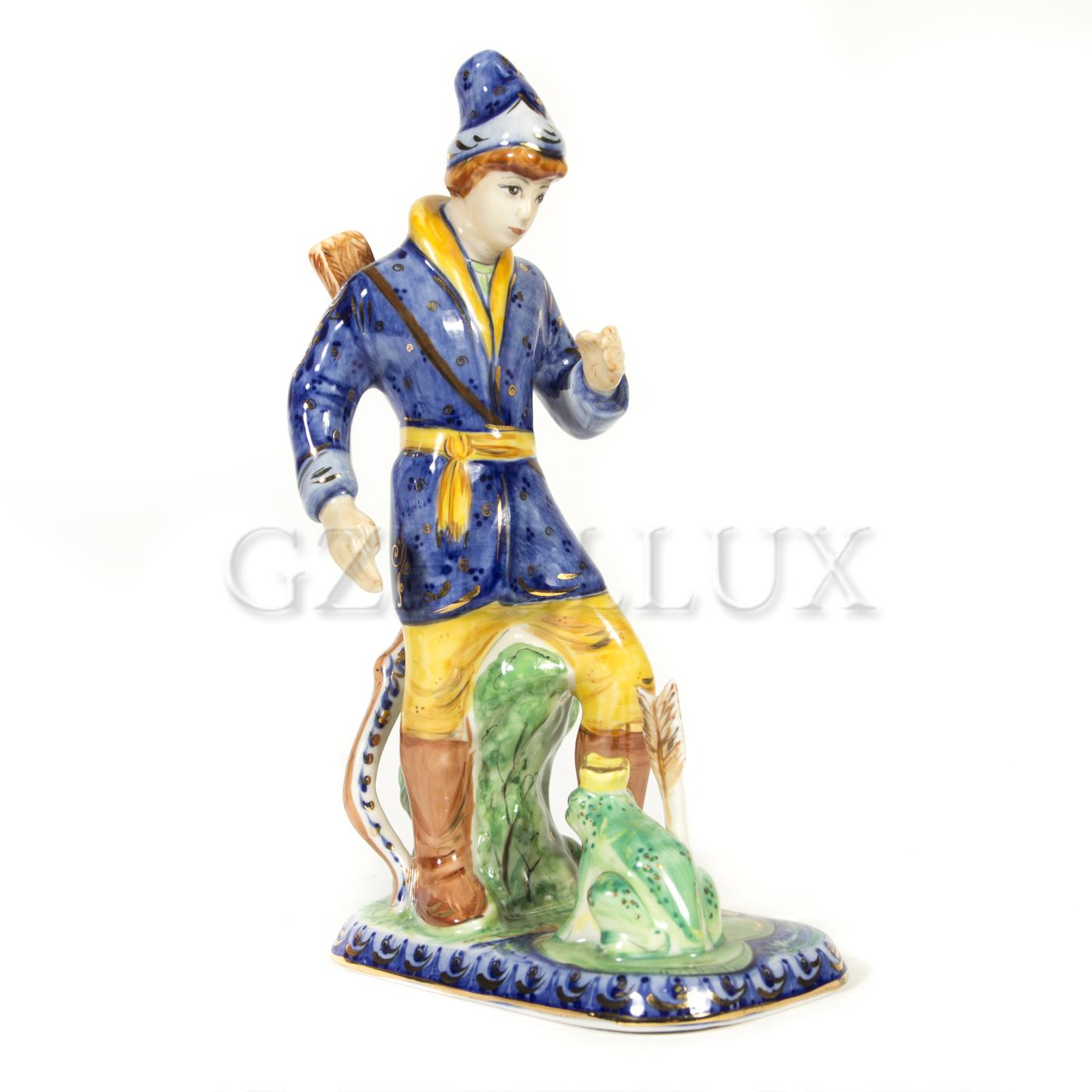 Скульптура «Иван Царевич и лягушка» в красках
