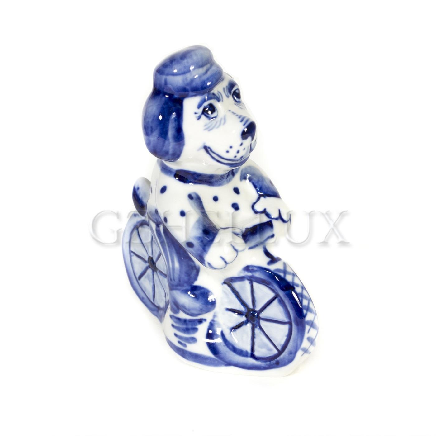 Скульптура «Собака на велосипеде»