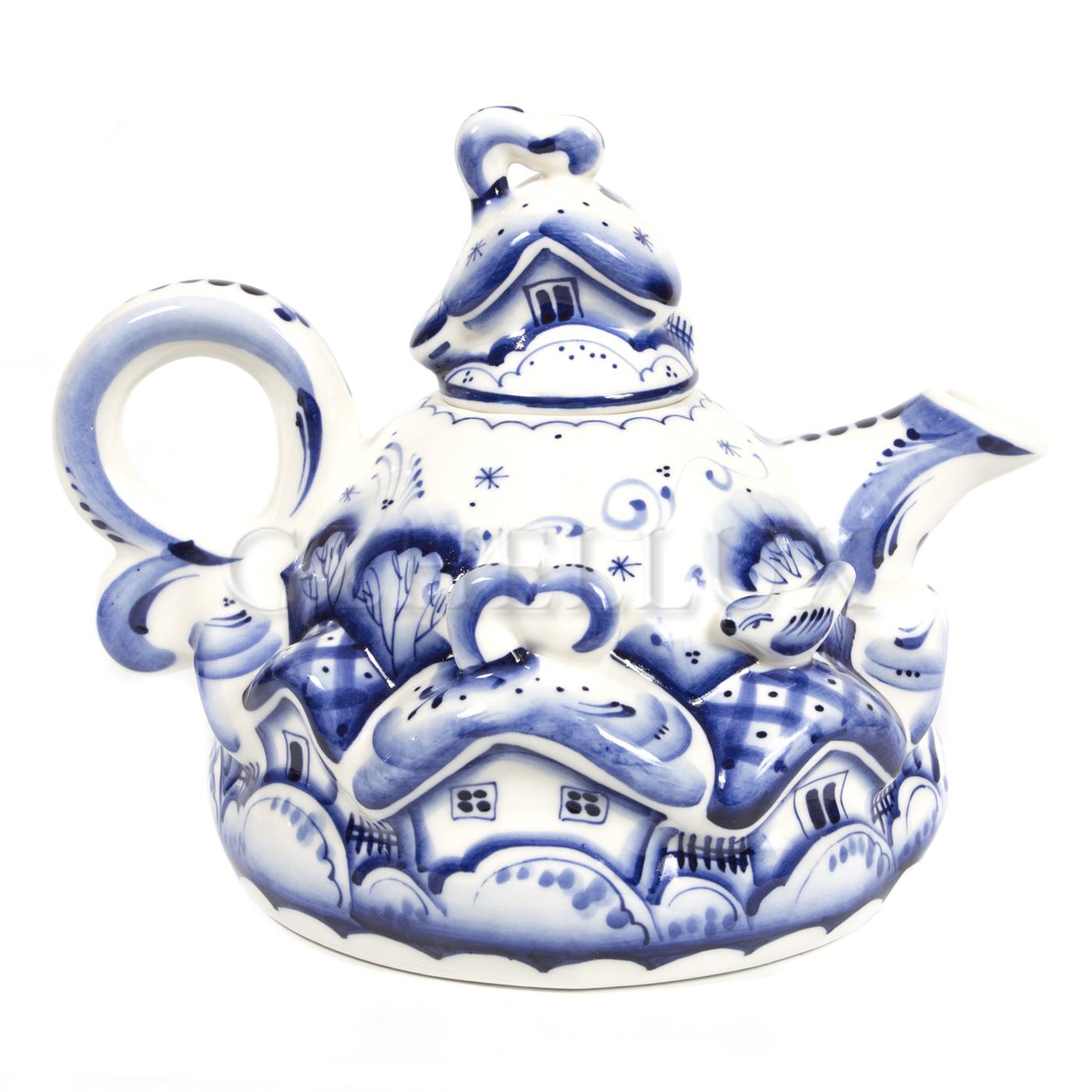 Чайник «Деревня» круглый