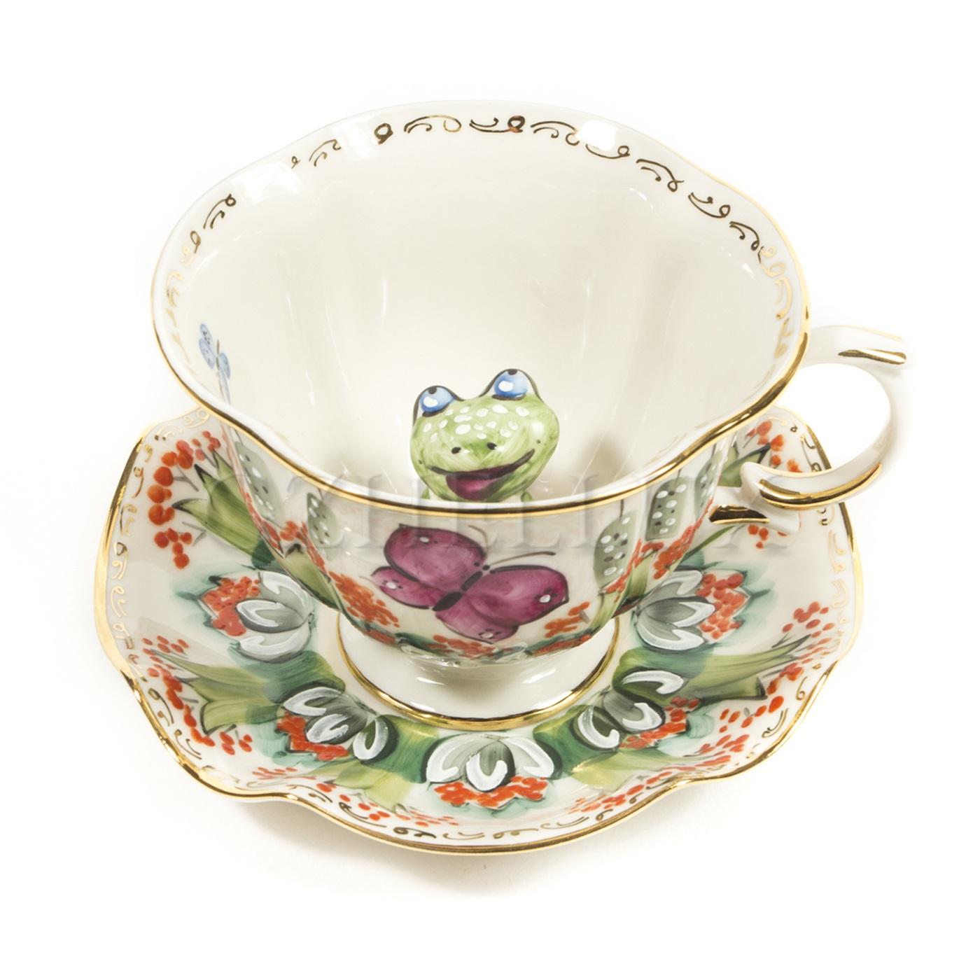 Чайная пара «Лягушка» в красках