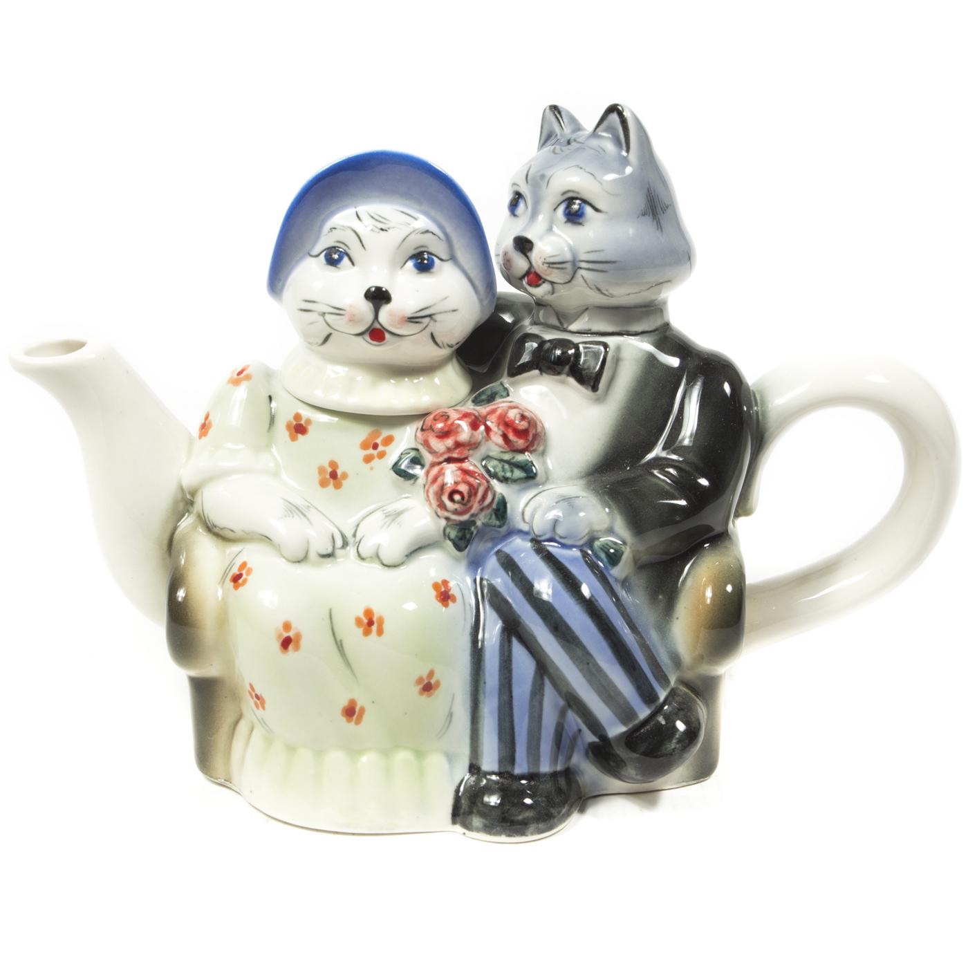 Чайник «Кошки» в красках