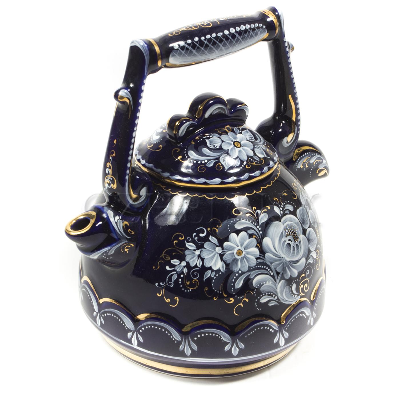 Чайник «Петушок» (глухой кобальт)