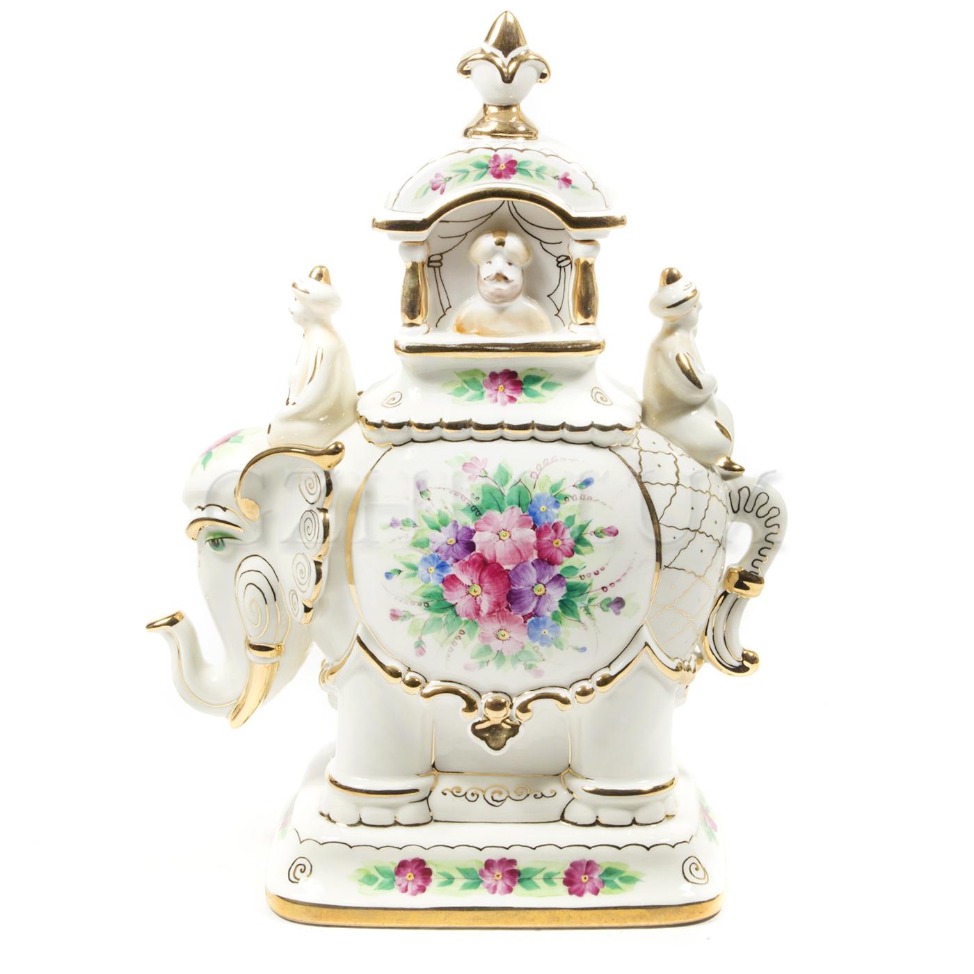 Шкатулка «Слон» (Чайница) в красках