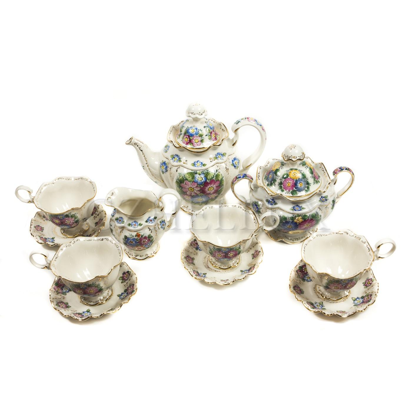 Сервиз чайный «Полевые цветы» в красках