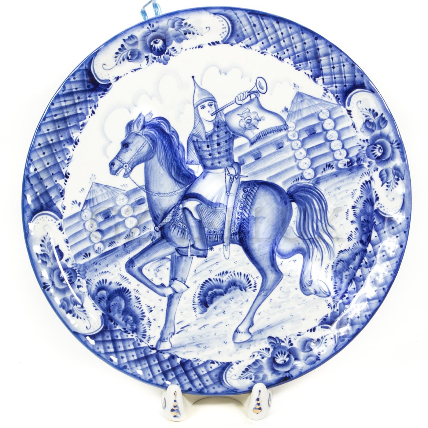 Тарелка декоративная «Вестовой на коне»