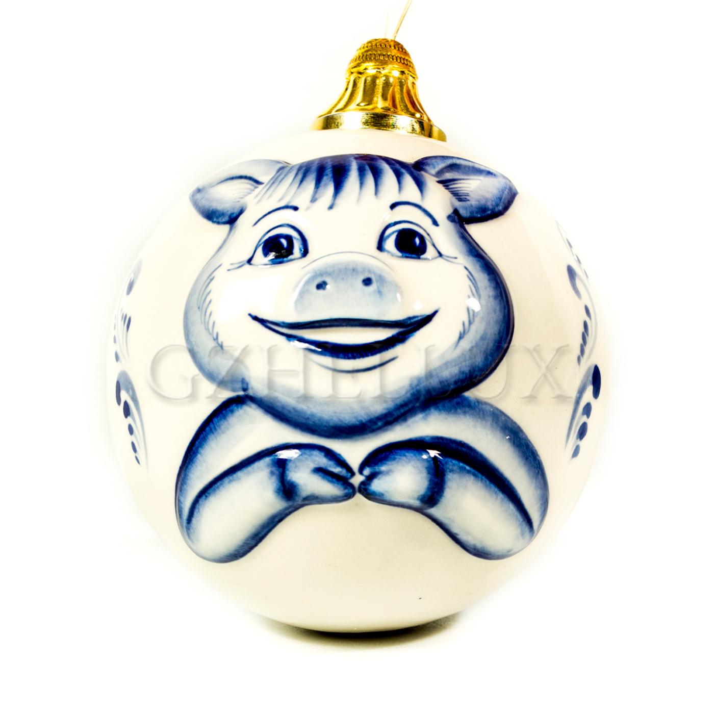 Ёлочный шар «Свинка»