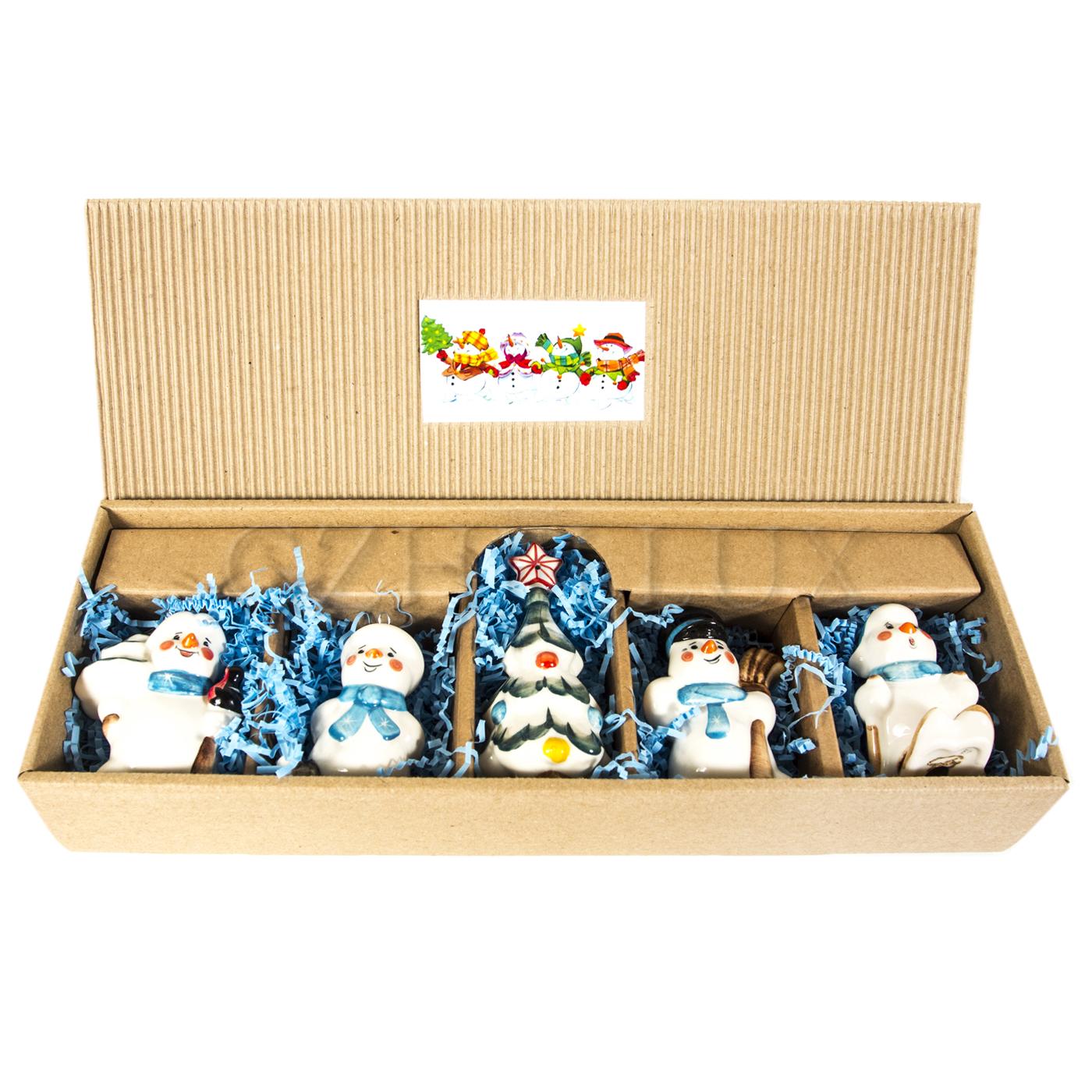 Набор ёлочных игрушек «Снеговики»