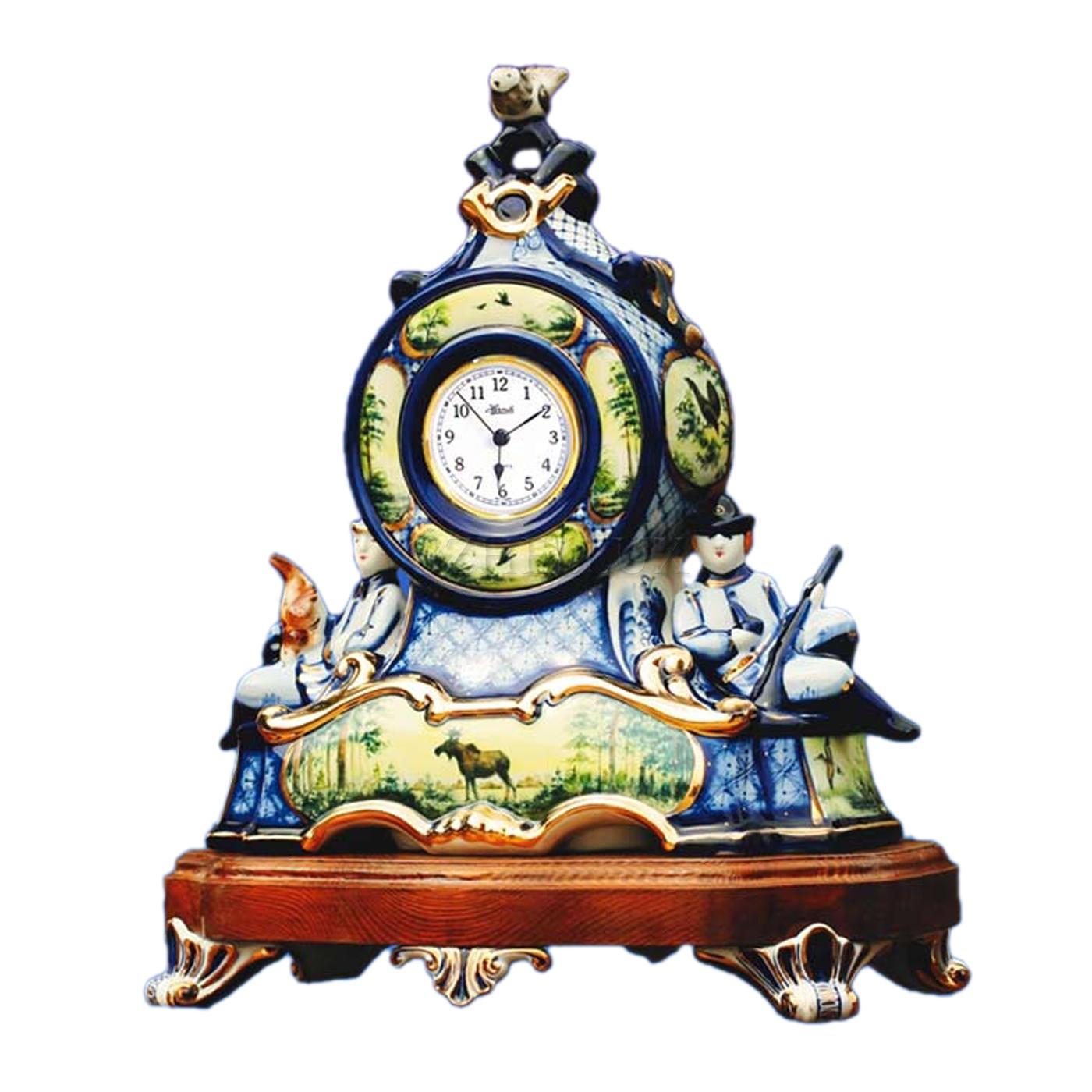 Часы «Охота» в красках