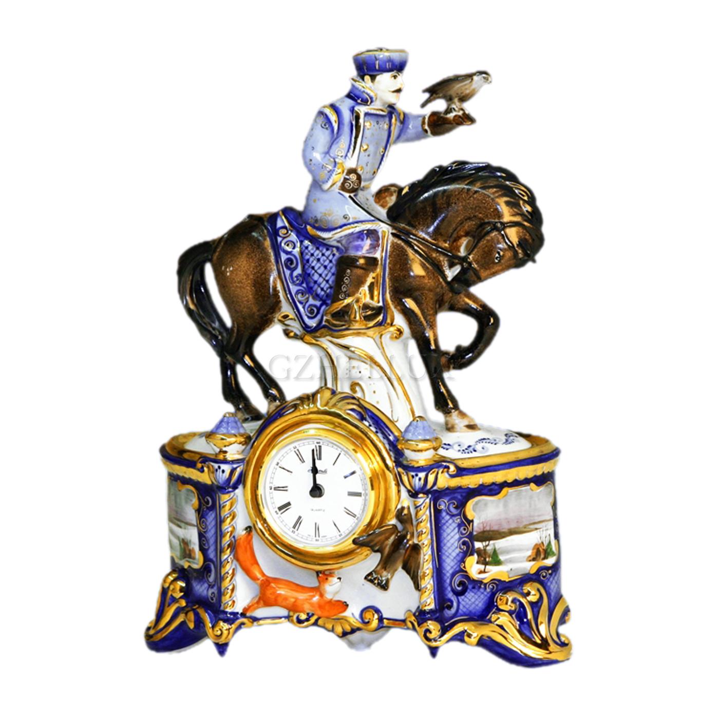Часы «Всадник с соколом» в красках