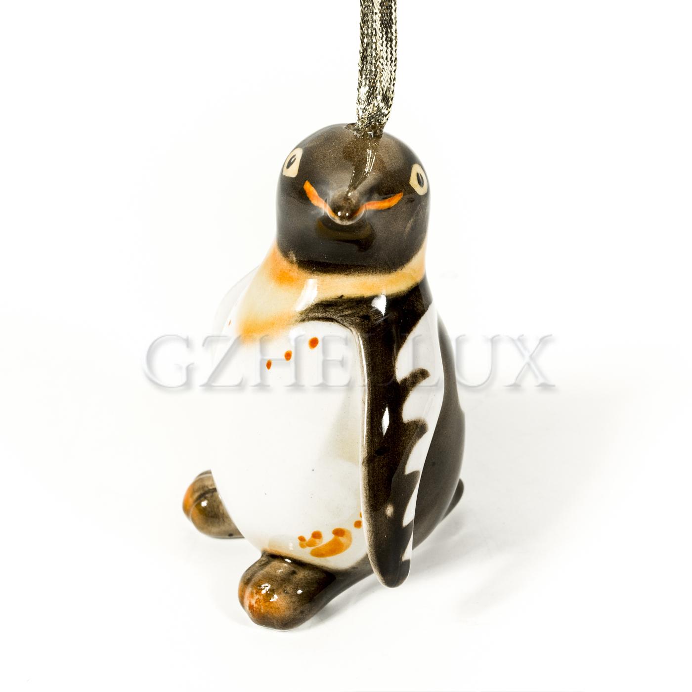 Ёлочная Игрушка «Пингвин» в красках