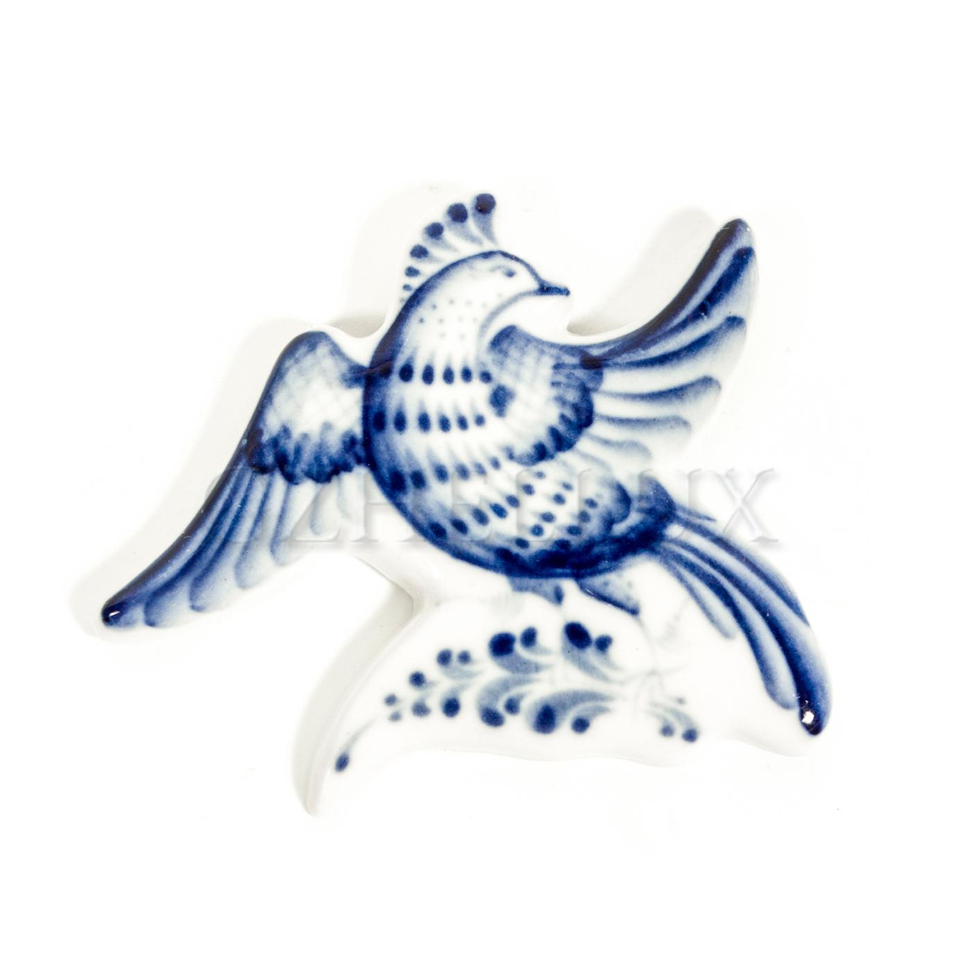 Магнит «Птица Гжели»