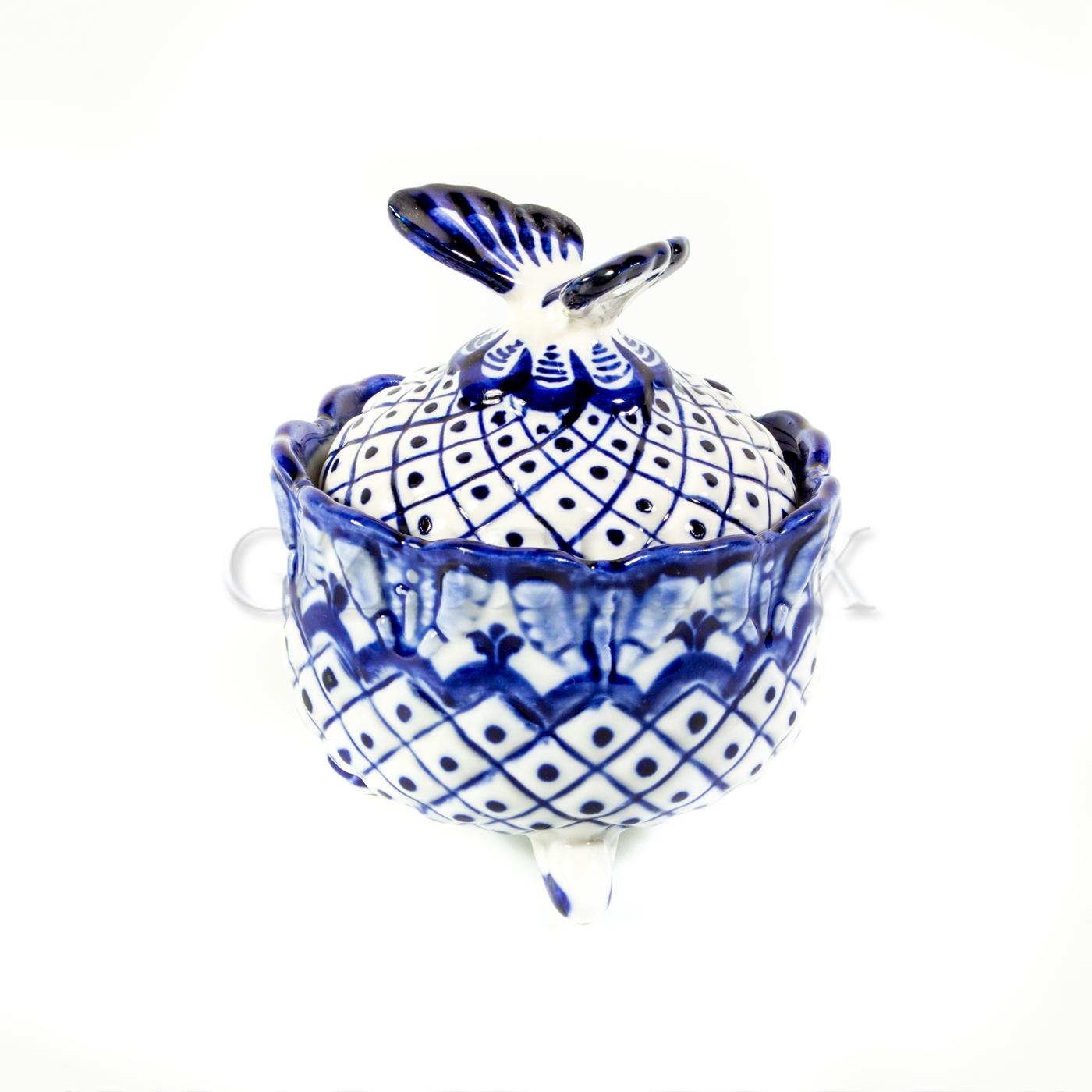 Шкатулка «Сеточка» с бабочкой