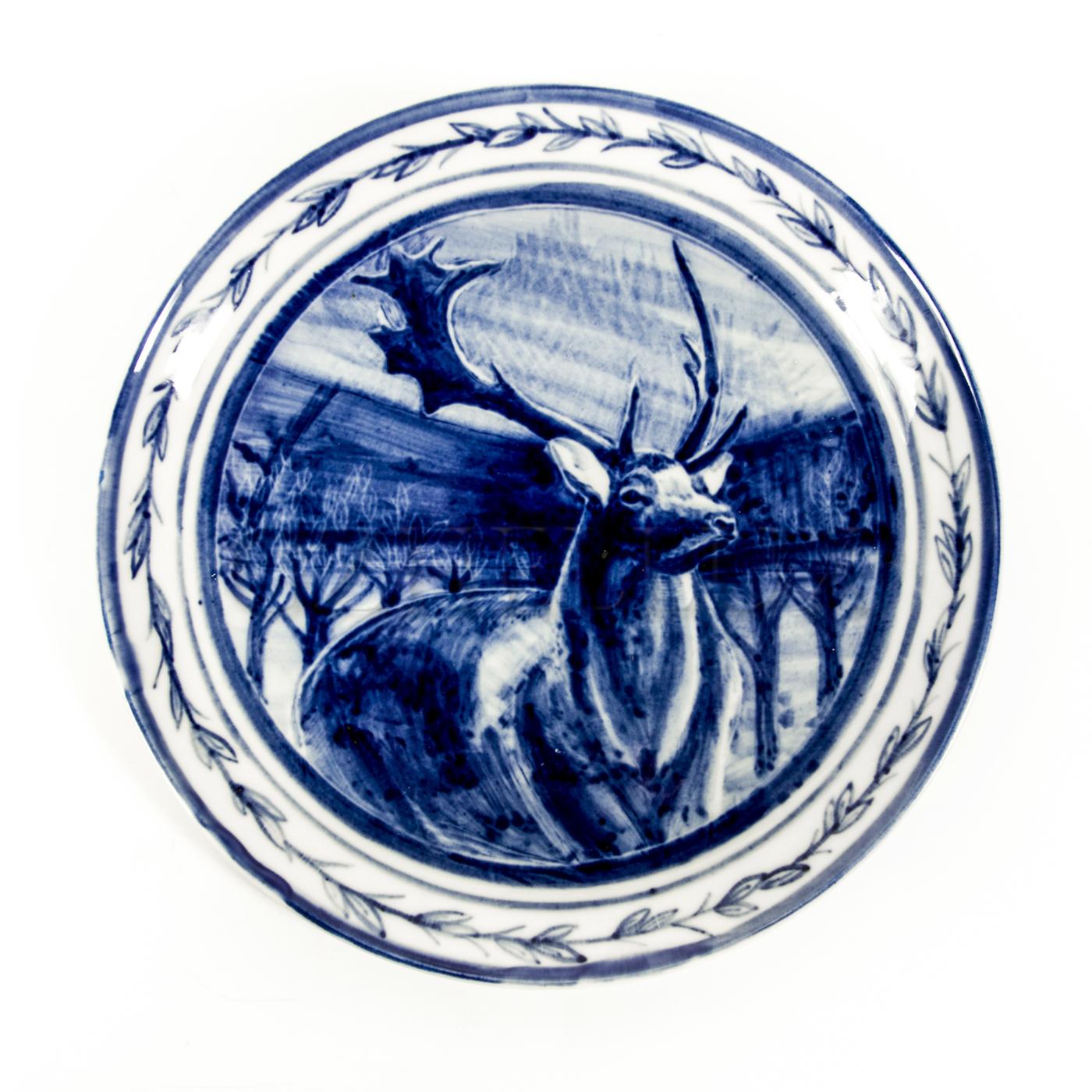 Тарелка декоративная «Олень»