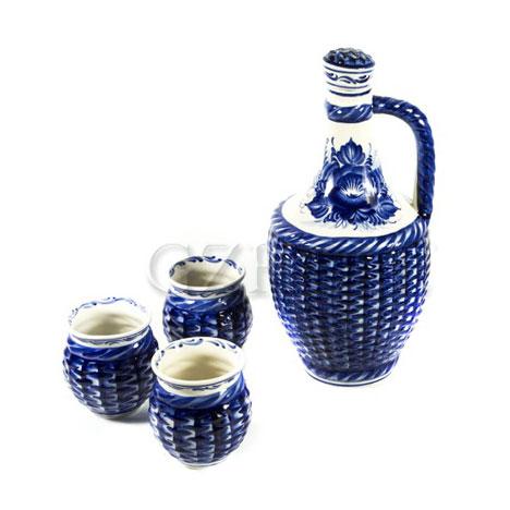 Набор для вина «Погребок» (Кувшин + 3 бокала)
