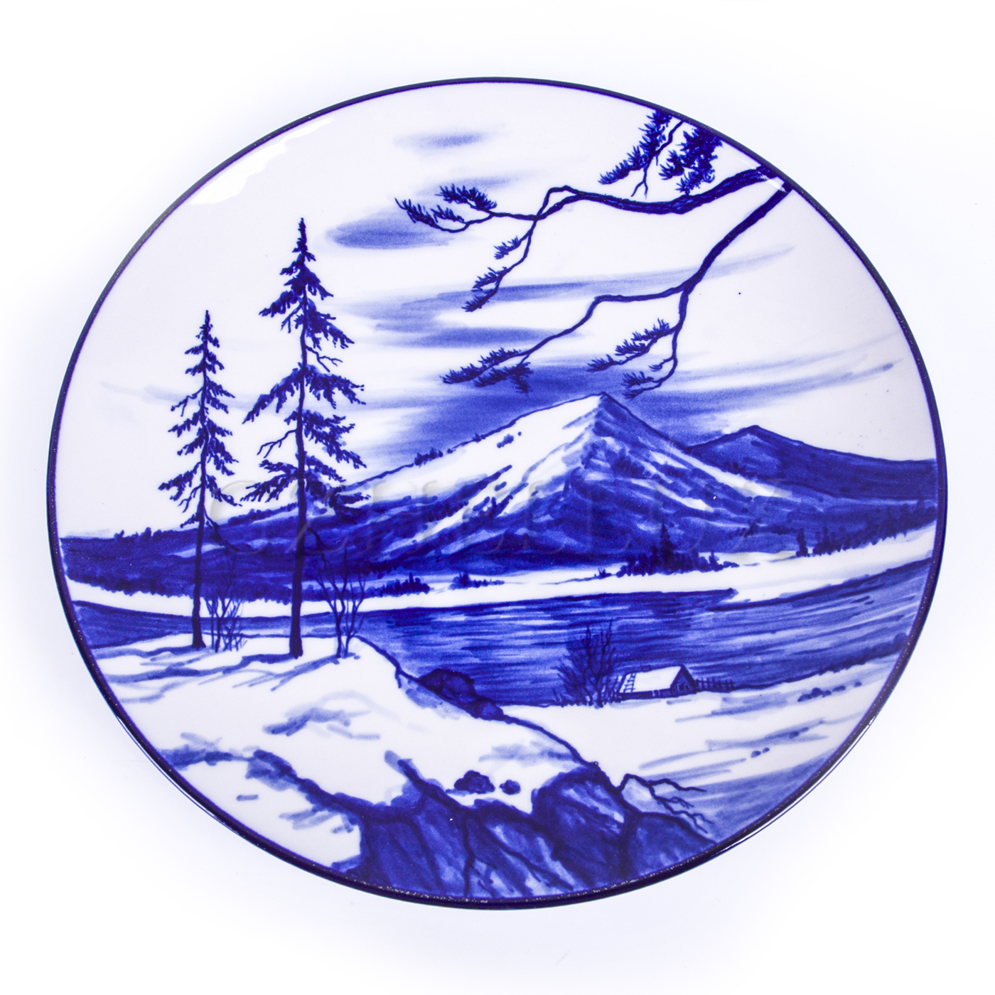 Тарелка декоративная «Горы»
