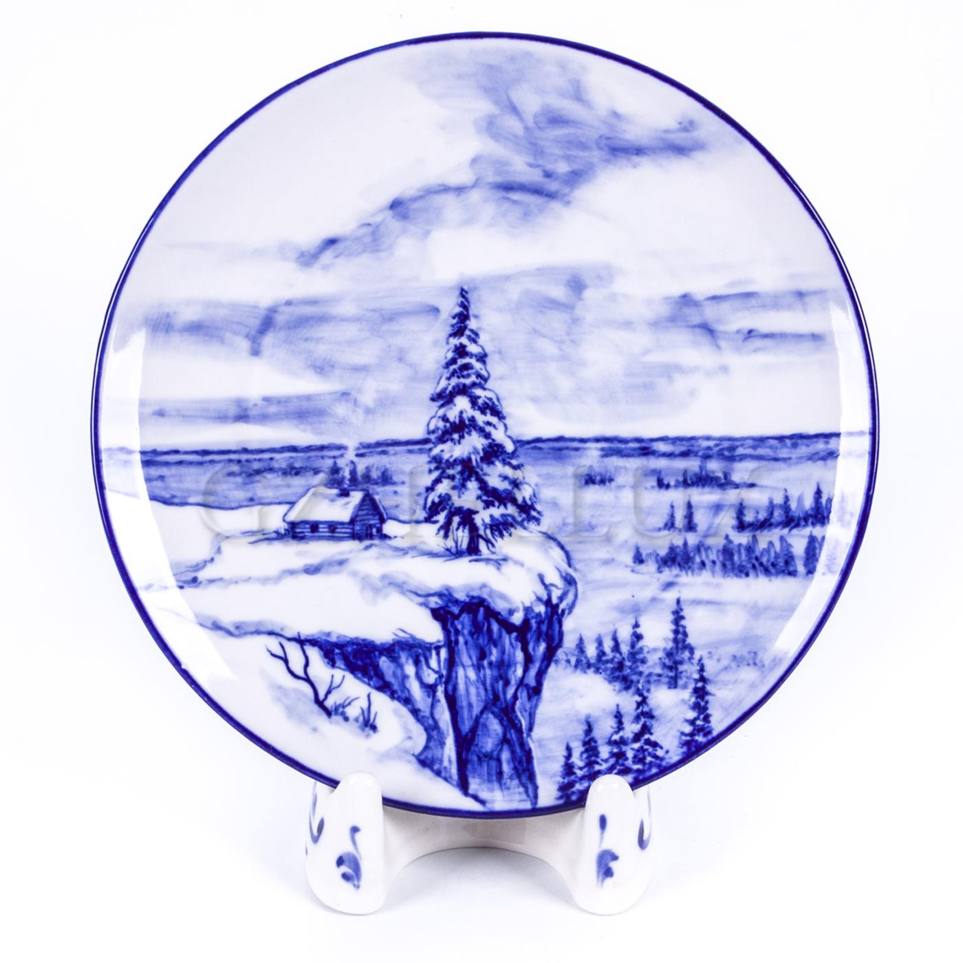 Тарелка декоративная «На краю»