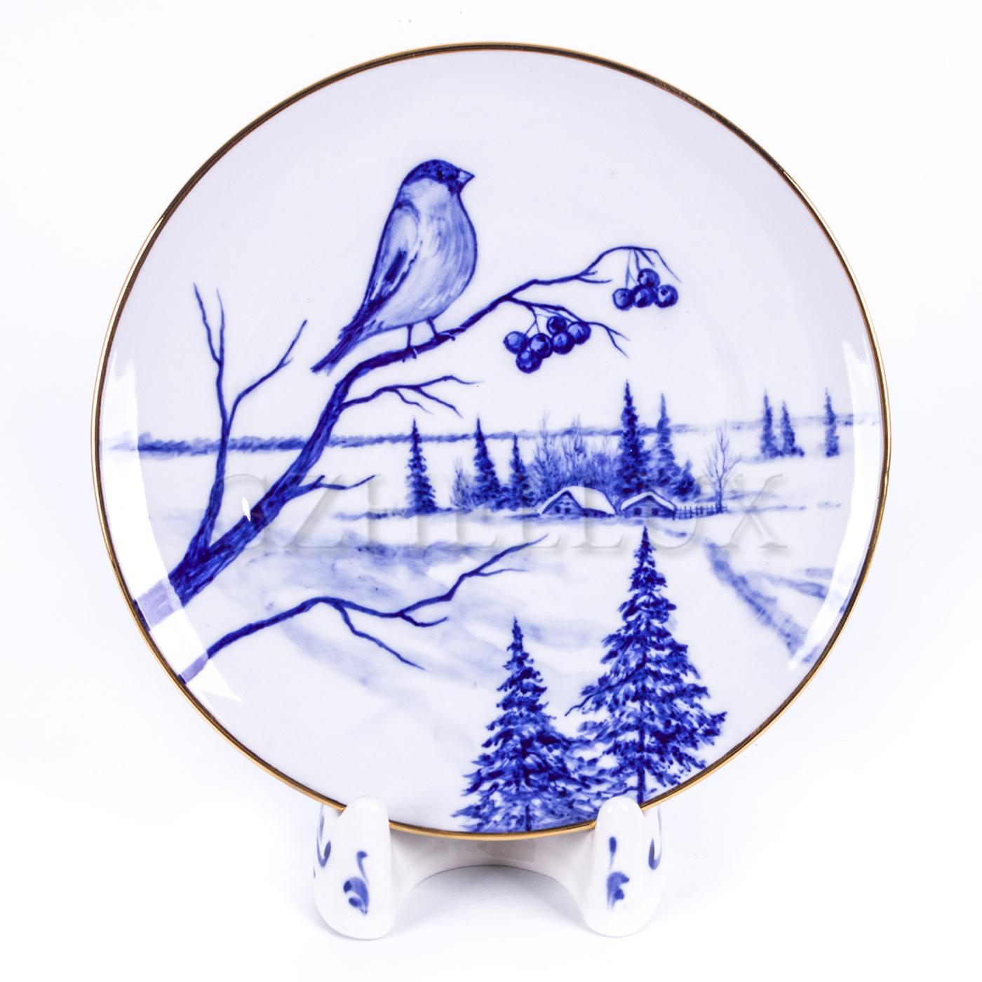 Тарелка декоративная «Снегирь»