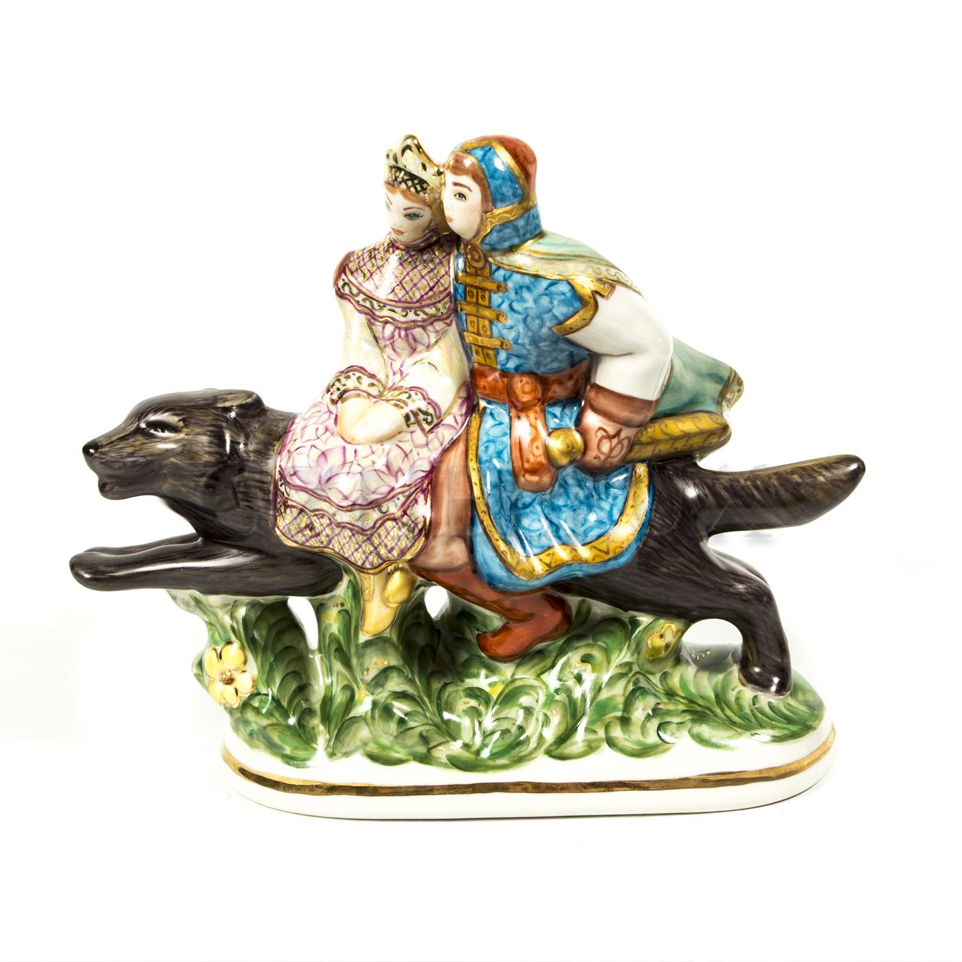 Скульптура «Иван-Царевич» в красках