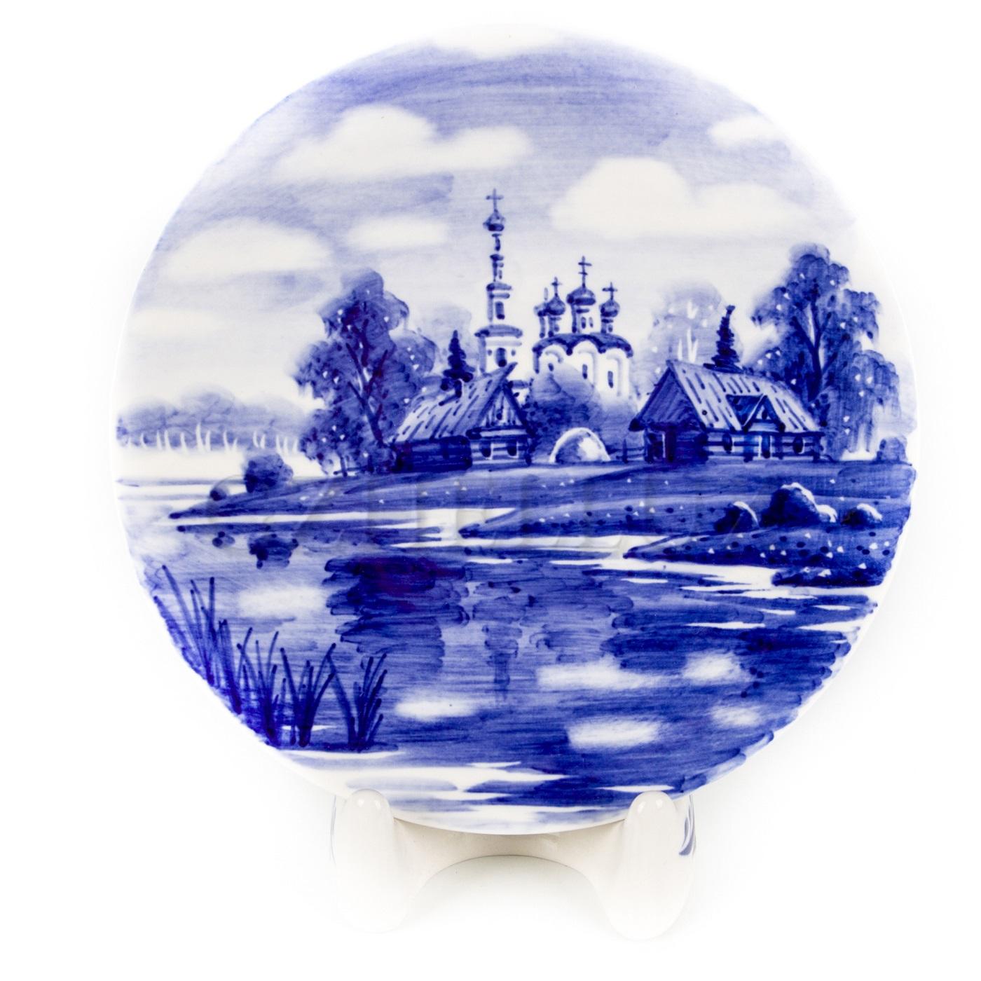 Тарелка декоративная «Церковь»