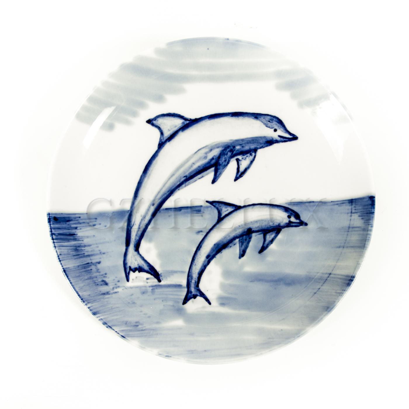 Тарелка декоративная «Дельфины»