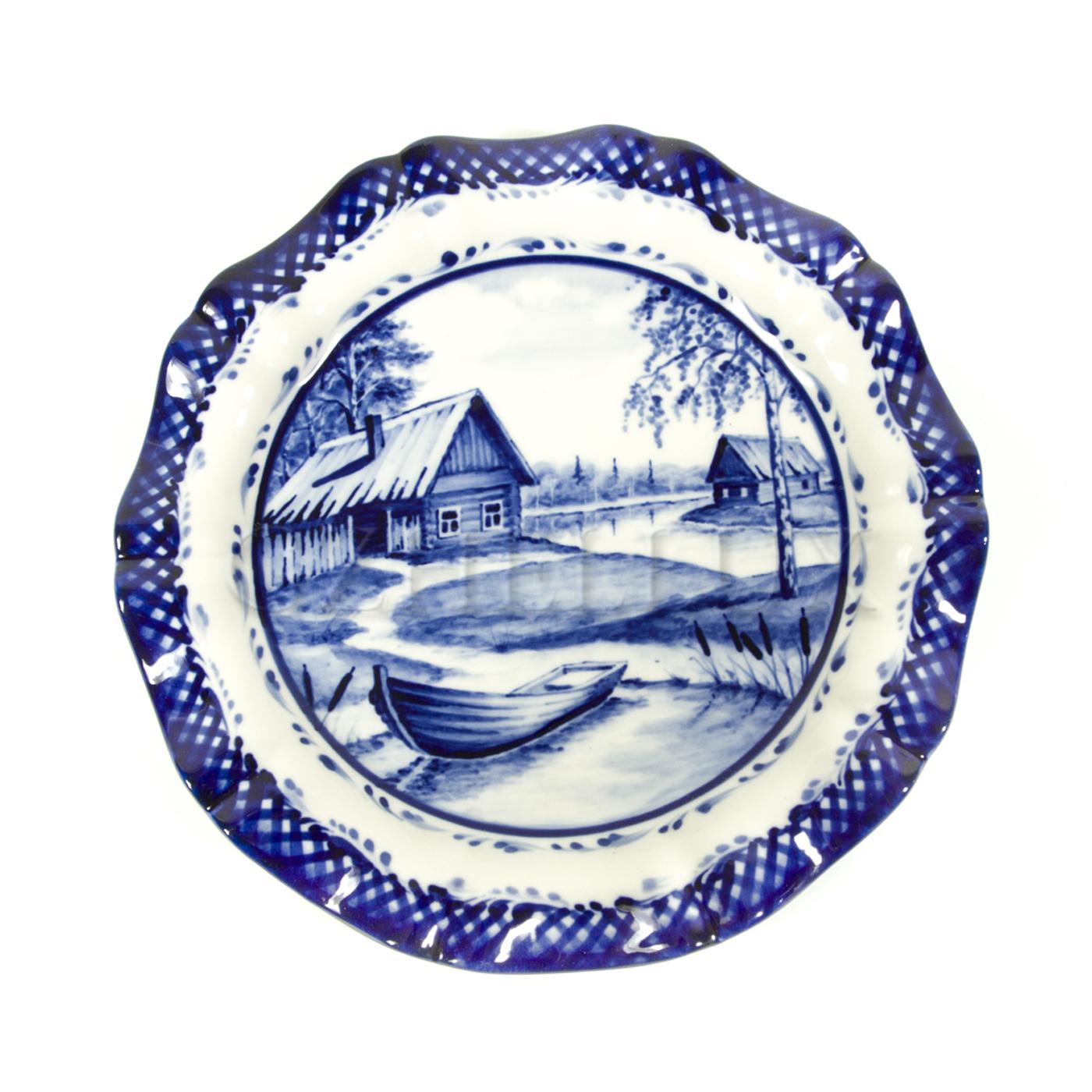 Тарелка декоративная «Деревня» №2