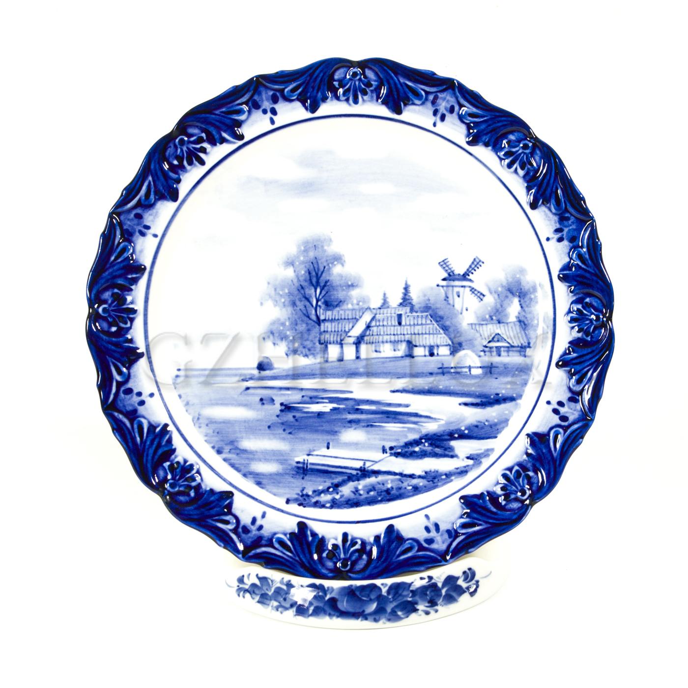 Тарелка декоративная «Мельница»