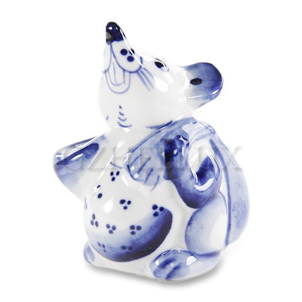 Скульптура «Мышонок с подарком»